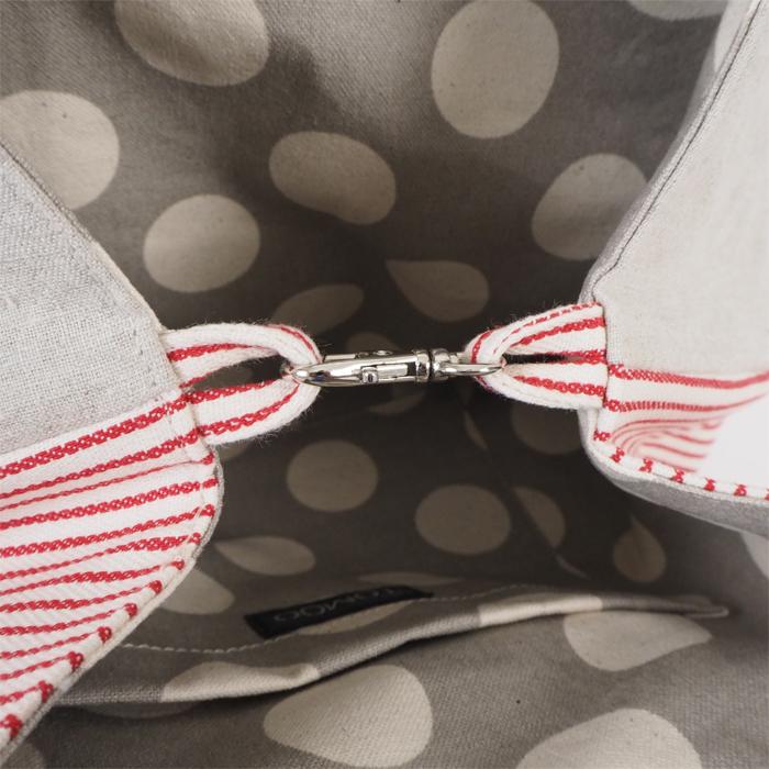 TOMOO DESIGNS トモオデザインズ 2wayサークルトートバッグ 布製 ストライプ柄 レディース
