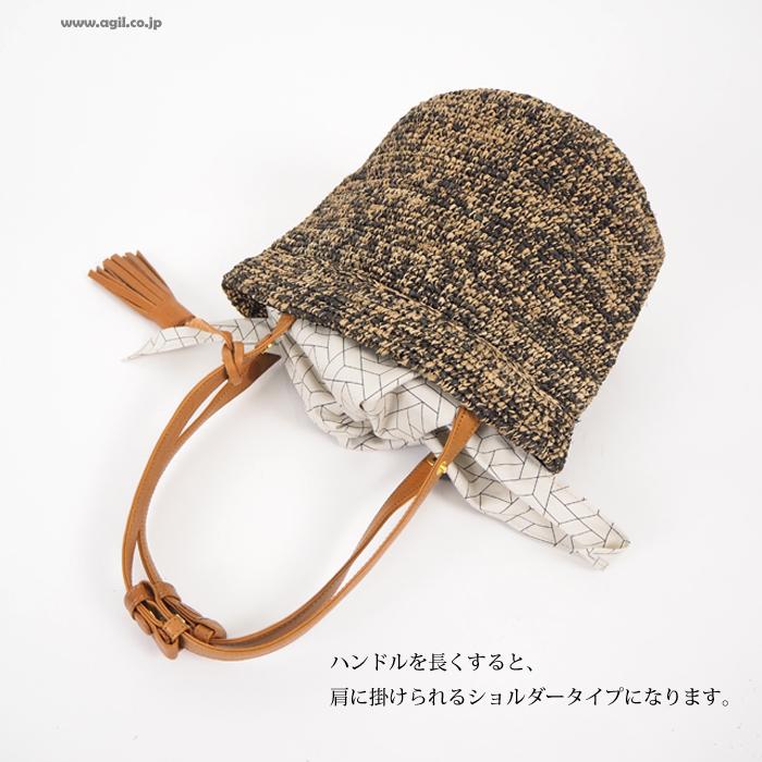 mononogu (もののぐ) バケット型トートかごバッグ かごバッグ マダガスカルラフィア 日本製 レディース