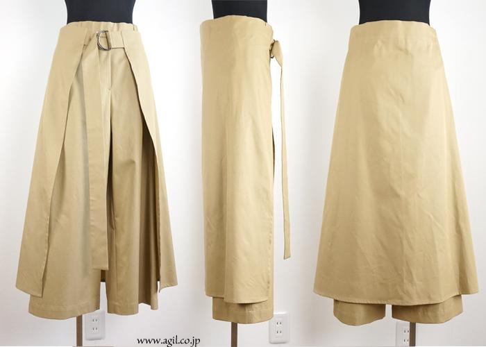 NICO,nicholson & nicholson (ニコ,ニコルソンアンドニコルソン) ワイドパンツ エプロン風スカート付 レディース
