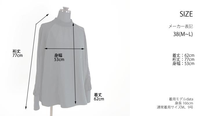 isato design works イサトデザインワークス プルオーバーブラウス オパール加工 ボトルネック レディース