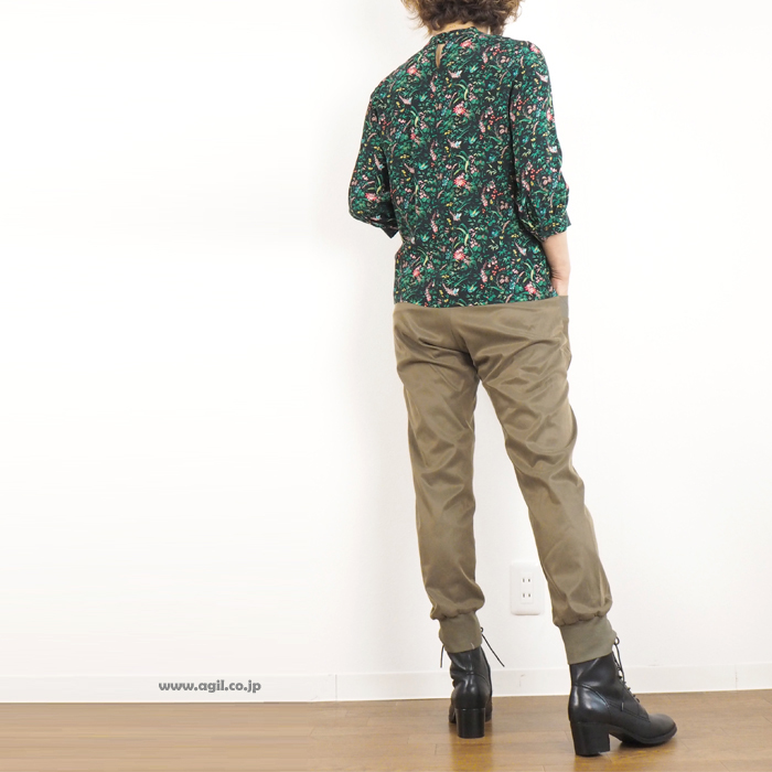 isato design works イサトデザインワークス テーパードパンツ 裾リブ レディース