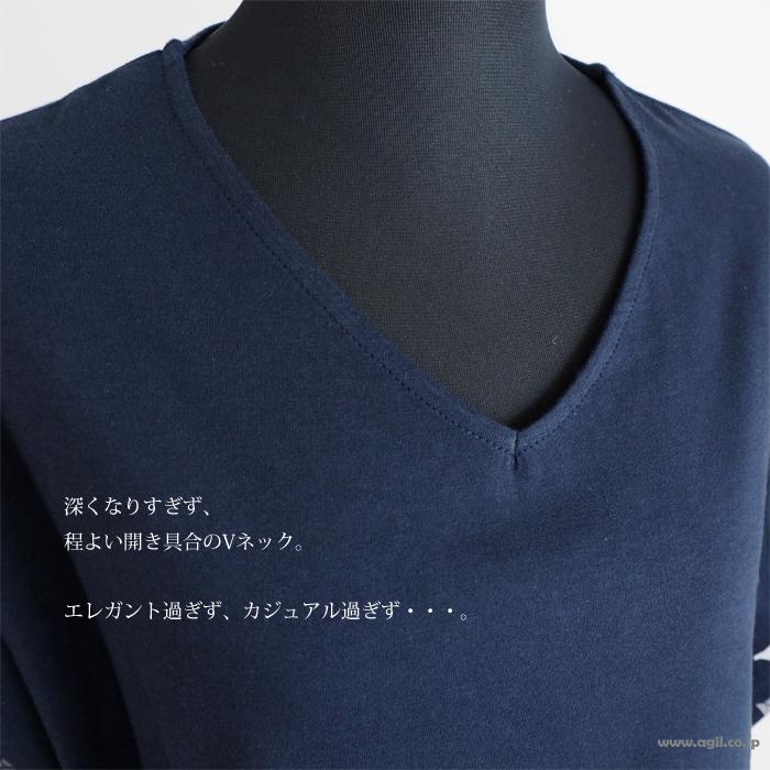 isato design works イサトデザインワークス Vネックドット柄オパールプリントカットソー レディース