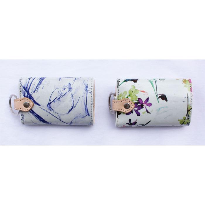 CILANDSIA(チランドシア) 牛革プリントレザー キーケース ラミネート加工 メンズ レディース 送料無料