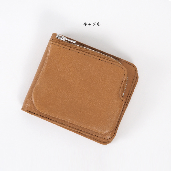 REN レン 本革 2つ折り財布 外ポケット ミニウォレット レディース メンズ solum ソラム