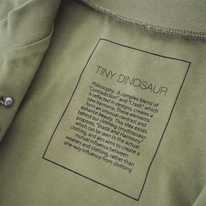 tiny dinosaur タイニーダイナソー カーディガン コットンジャージィブルゾン カーキ レディース メンズ