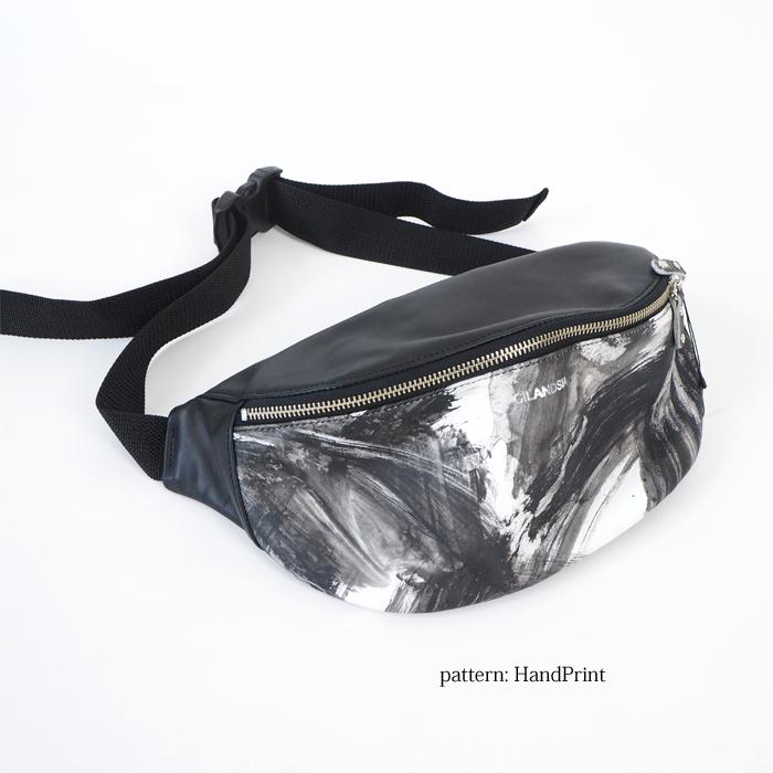 CILANDSIA(チランドシア) ウエストポーチ ボディバッグ 本革プリント レディース メンズ 送料無料